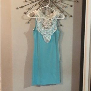 Blue Charlotte Russe medium lace dress
